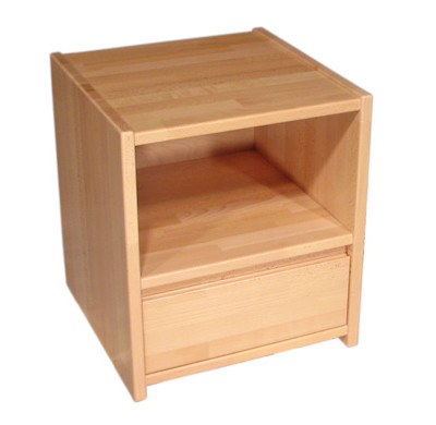 Noční stolek se spodní zásuvkou nízký