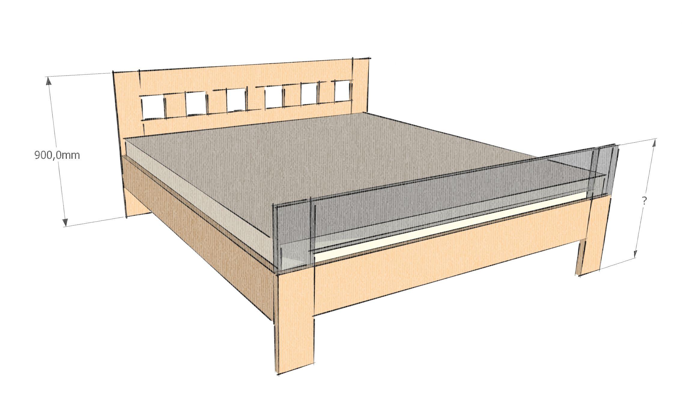 výšky čel postele vyrábíme na přání