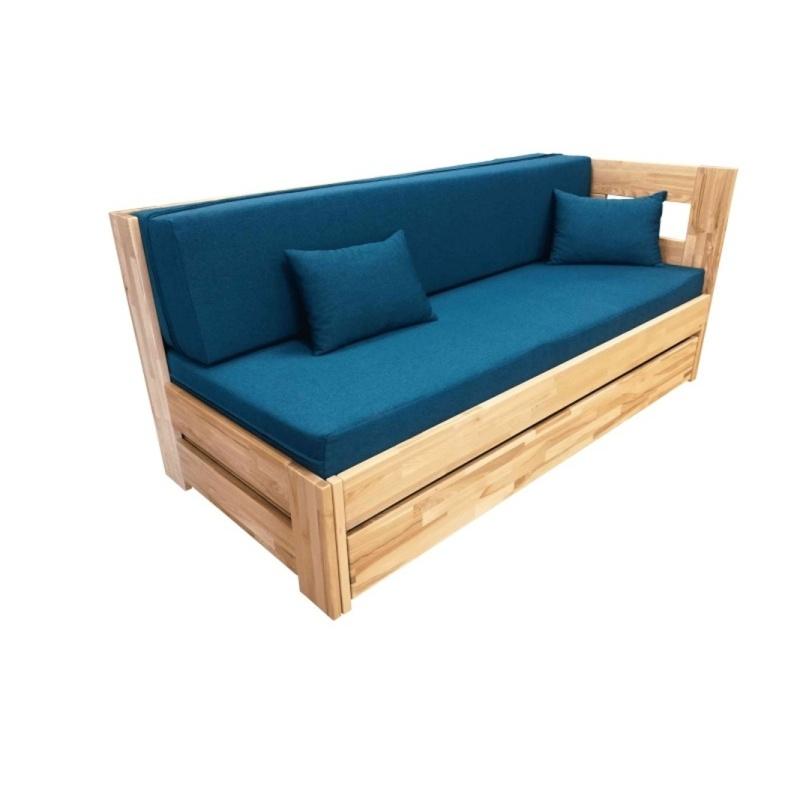 rozkládací postel v rohovém provedení
