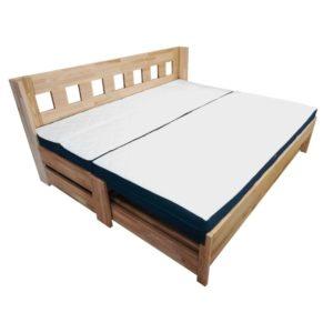 rozkládací postel rozložená