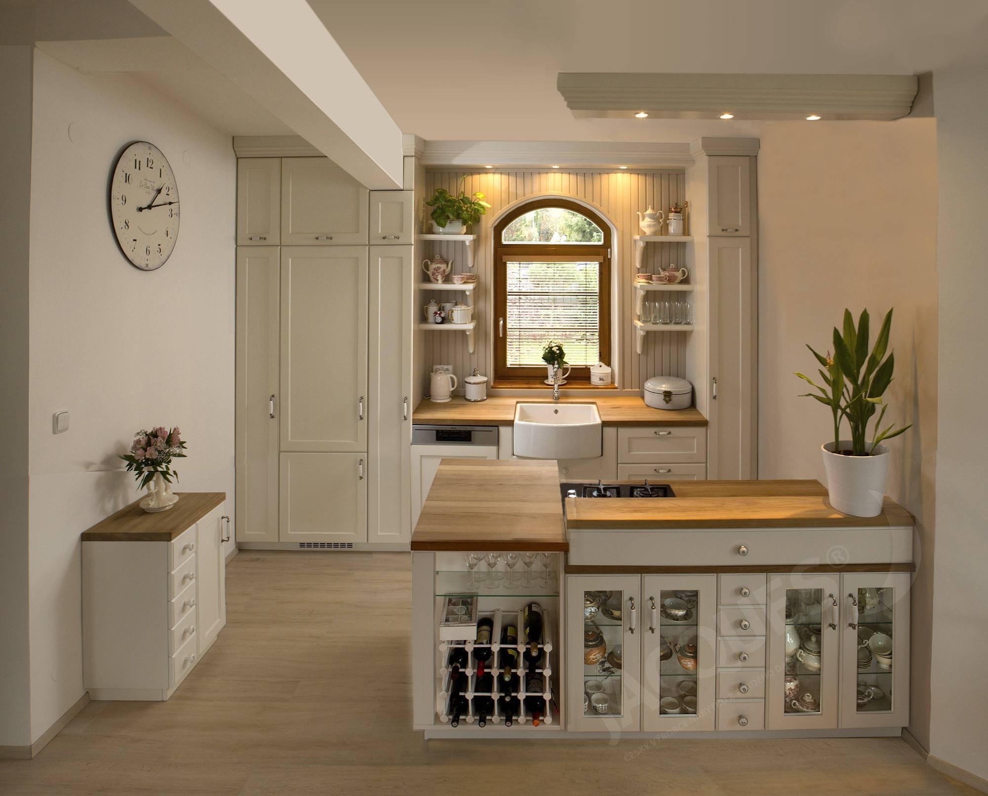 ukázka ralizace kuchyně ve francouzském stylu